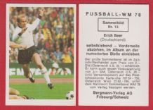 West Germany Erich Beer Hertha Berlin